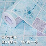 HhGold Die Art Wall Mount Küche Anti-fett Aufkleber Wandaufkleber WC Wasserfeste Selbstklebende Tapete hochtemperaturbeständige Badezimmer Fliesen-61 cm*2 m