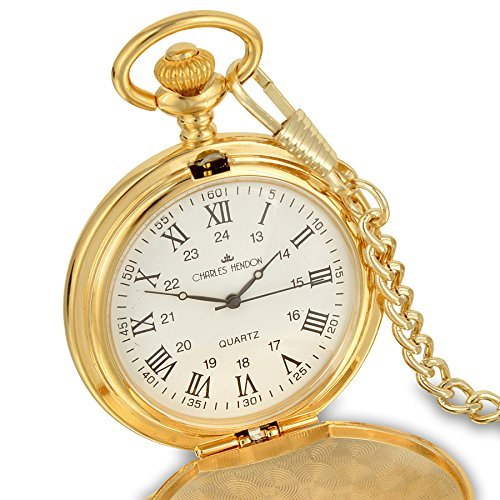 Personalised-Engraved-Pocket-Watch-with-Roman-numbers-and-Spare-Battery-Gold-or-silver-with-Satin-Box-or-without-with-Free-engraving
