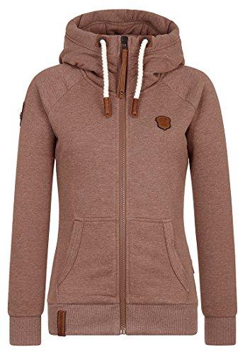 Naketano Female Zipped Jacket Brazzo Brown Melange, M