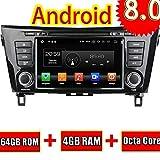 ROADYAKO 8Inch Car Stereo para Nissan Qashqai/X-Trail 2014 2015 2016 2016 8.0 Radio para Coche con navegación GPS 3G WiFi Enlace de Espejo RDS FM Am Bluetooth AUX Audio Video