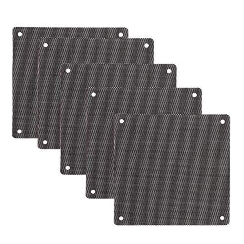 WINJEE, 5Pc Computer Mesh PVC Gehäuselüfter Staubfilter Staubschutz Abdeckung Chassis Staubschutz