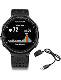 Garmin Forerunner 235 GPS Sport Watch - Black/Gray - Charging Clip Bundle includes Forerunner 235 GPS and Charging Clip