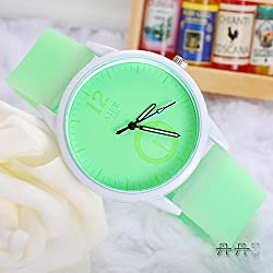 2015 Fashion Lovers Noctilucent Watch Jelly Color Quartz Silicone Strap Women Watches Hot Sale Student WristWatch Christmas Gift