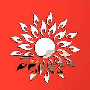 Sticker mural wall sticker soleil miroir m tal for Stickers miroir cuisine