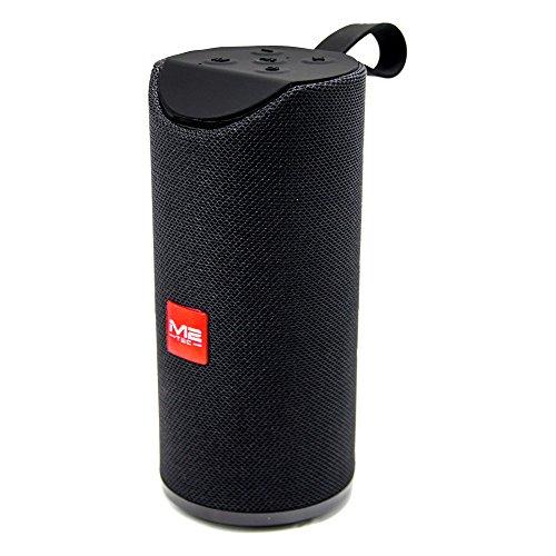 Tragbarer Bluetooth Lautsprecher Soundbox Soundstation Musikbox Radio MP3 SD USB, Farbe:Schwarz