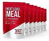 Mahlzeitenersatz Shake von Runtime | Protein-Shake mit Vitaminen, Mineralstoffen und Ballaststoffen | Mit wertvollen BCAAs und Kollagen Hydrolysat | Next Level Meal 7x150g (Erdbeere)