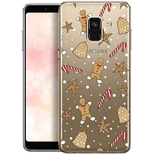 Preisvergleich Produktbild OOH!COLOR Handyhülle kompatibel mit Samsung Galaxy A8 2018 Hülle Silikon transparent Schutzhülle Samsung Galaxy A8 2018 Case A530F Durchsichtig Soft TPU Etui Flexibel mit Weihnachten Lebkuchen