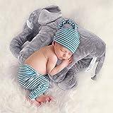 Baby Elefant weiches Kissen Spielzeug - große gefüllte Baby Elefant Tier als die große weiche spielen Plüsch Kissen Spielzeug für Babys, Kinder im Schlafzimmer, Wohnzimmer (61 * 45,7 * 25,4 cm)