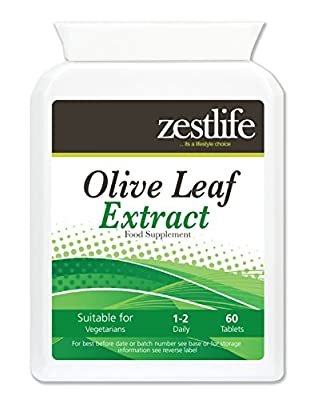 Olive Leaf Extract High Strength - 2 X 60 tablets | Protecting the body from viruses, bacteria or retroviruses, treating existing viruses, improving circulation, increases energy and well being! by Zestlife