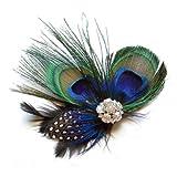 SODIAL(R) Cute Peacock Feather Hair Clip