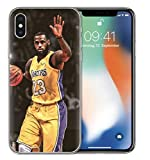 Coquefone Coque iPhone 5 / 5S / Se Lebron James 23 Lakers NBA Basket-Ball Maillot Jaune Signe de la Main