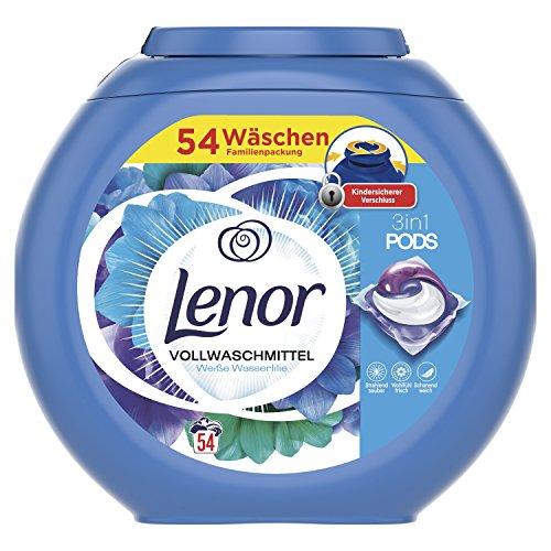 Lenor 3-in-1 PODS Vollwaschmittel Aprilfrisch, für Reinheit, Frische und Weichheit,...