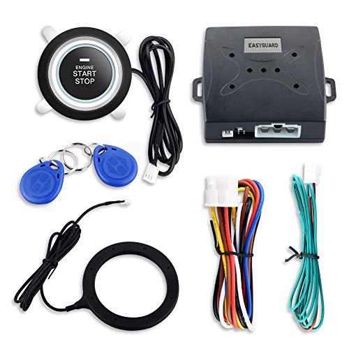 Preisvergleich Produktbild EasyGuard Smart Schlüssel RFID Auto Alarm mit Smart Push Start Button & Touch Keyless Go System