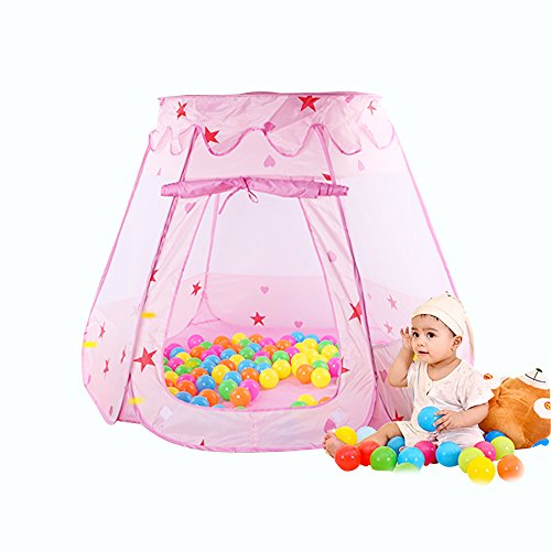 gim-kids-pink-princess-play-tent-castle-foldable-popup-balls-house-for-kids-pink47-35-inch