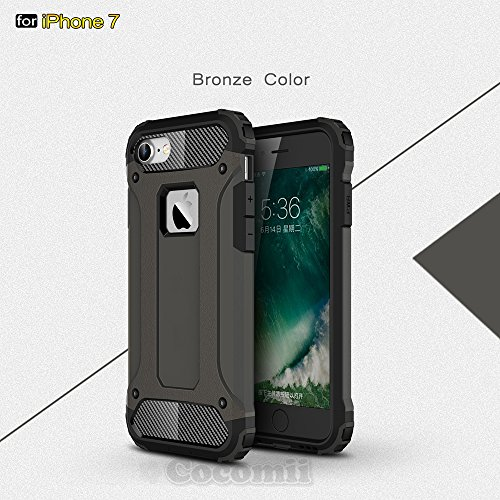 iPhone 8 / iPhone 7 Hülle, Cocomii Commando Armor NEW [Heavy Duty] Premium Tactical Grip Dustproof Shockproof Hard Bumper Shell [Military Defender] Full Body Dual Layer Rugged Cover Case Schutzhülle A Brown