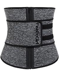 76210ca1b2f7a FeelinGirl Women s Waist Cincher Neoprene with Zipper Waist Trimmer Belt  Hot Sweat Corset