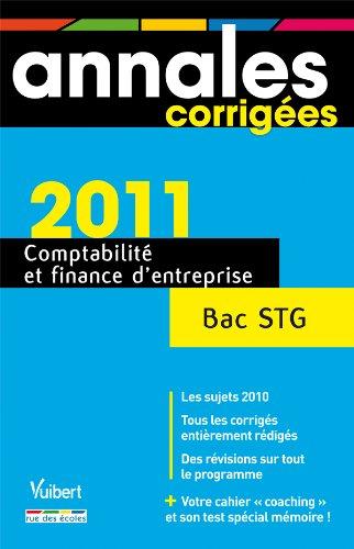 Comptabilité et finance d'entreprise Bac STG