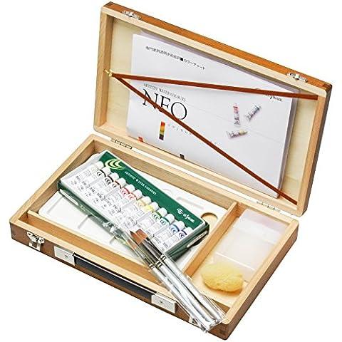 Brocca 12 colore resina casella di acquerello Kusakabe impostato Brown (japan import)