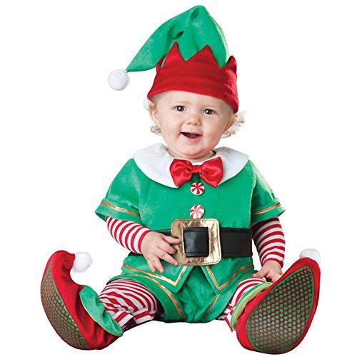 Weihnachtsmannkostüm für Kinder - FB Toy Süß Unisex Babys Jungen Mädchen Kleinkind Kostüm Outfit Set Santa Claus Elch Tops + Hosen + Hut + + Schuhe und Socken für Weihnachten
