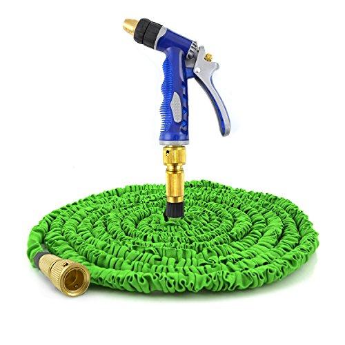 Nean flexibler dehnbarer Gartenschlauch wonder Flexischlauch robuste Luxusversion mit Messingkupplungen (15 m)