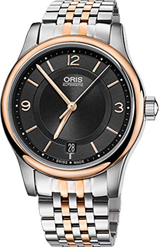 Oris Classic Date Stainless Steel and Rose Gold Tone Men's Watch