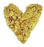 500 goldene Rosenblätter, goldfarben, gepackt zu 5x100 Stück, glänzend - Jubiläum, Hochzeitsdeko, Taufe, Kommunion, Konfirmation, Valentinstag, Heiratsantrag, Streudeko, Romantisch, Basteln, künstliche Blütenblätter, Goldhochzeit, goldene Hochzeit, gold