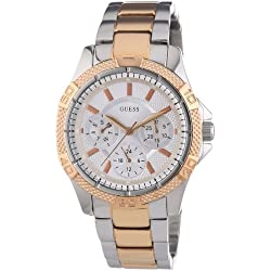 W0235L4 Guess Women's Quartz Analogue Watch-Stainless Steel Strap Multicoloured