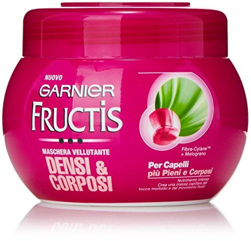 Garnier Fructis Densi & Corposi Maschera Vellutante per Capelli Più Pieni e Corposi, 300 ml