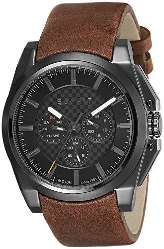 Esprit Herren-Armbanduhr TP10871 Brown Analog Quarz Leder ES108711003