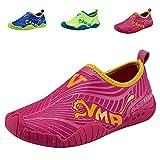 FLARUT Mädchen Jungen Wasser Schuhe Outdoor Breathable Quick-Dry Aqua Socken für Strand Schwimmbad Surf Yoga(30 EU,rosa)