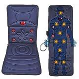 LYLN Tapis de Massage corporel Complet, Dispositif de Massage hyperthermie, 9 Moteurs de Massage, 8 Modes,Blue