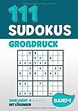 111 Sudokus Großdruck: Rätselheft mit 111 sehr leichten Sudoku Rätsel im 9x9 Format mit Großer Schrift und Lösungen | DIN A4 | Band 4 - Visufactum Rätsel
