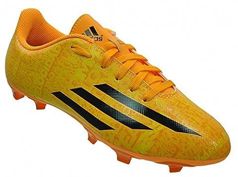 Adidas Leo Messi F5 FG Junior Kinder Nocken Fußballschuhe Gelb/Orange, Grösse:EU/37 - UK/4.5 - US/5 -