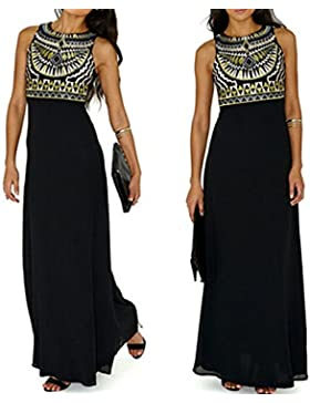 mujer largo maxi vestido de fiesta vestido de noche vestido de verano sin mangas vestidos de playa
