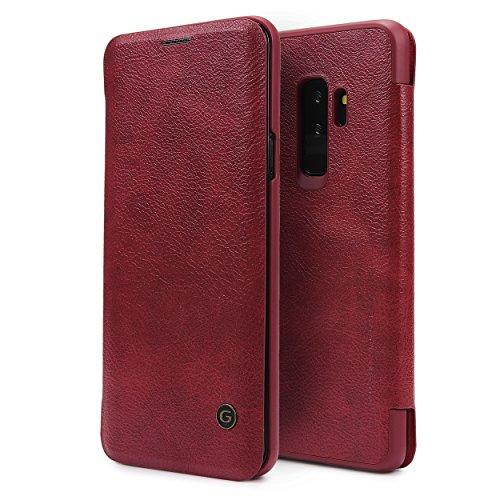 Urcover Galaxy S9 Plus Hülle, Wallet Business Series mit [ KARTENFACH ] Bookstyle Case Cover Schutzhülle Etui Klapphülle Handyhülle für Samsung Galaxy S9 Plus Rot (Wallet Card Klasse)