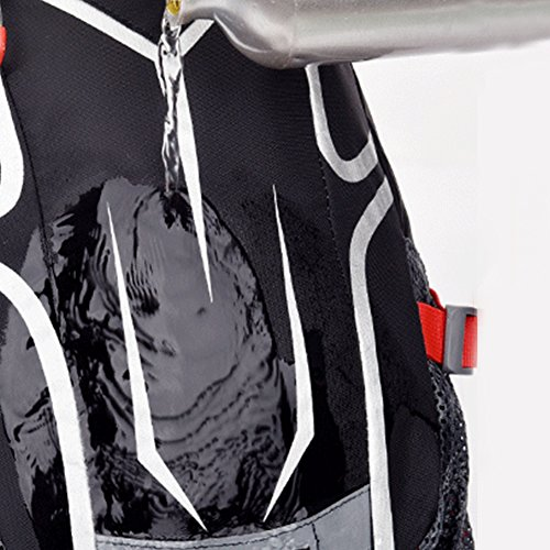 Radfahren Rucksack & Radfahren Tagesrucksack Wasser Beständig mit Helm Netz, Regen Abdeckung und Telefon Tasche zum Männer und Frau Rot