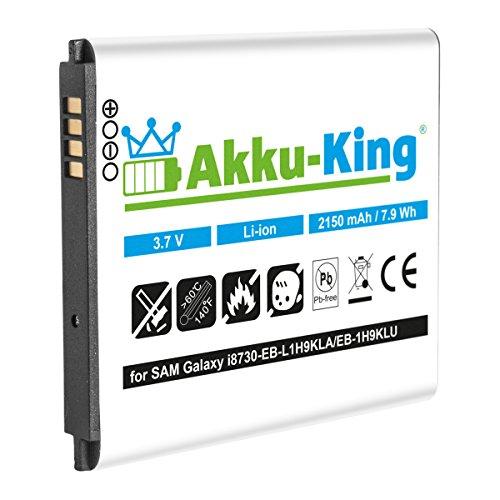 Akku-King Akku für Samsung Galaxy Express GT-i8730, GT-i8730T - ersetzt EB-L1H9KLA, EB-L1H9KLU - Li-Ion 2150mAh (ohne NFC) - Express Akku