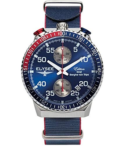 Elysee Reloj los Mujeres GRAF Berghe Von Trips Rally Timer I Cronógrafo 80521N