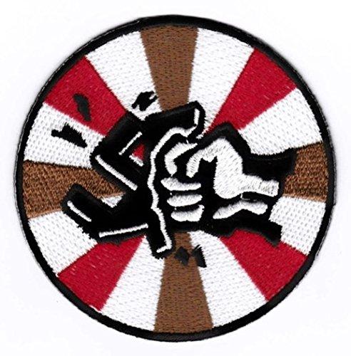 """St Pauli Aufnäher / Bügelbild / Iron on Patch """"Gegen Faschismus"""""""
