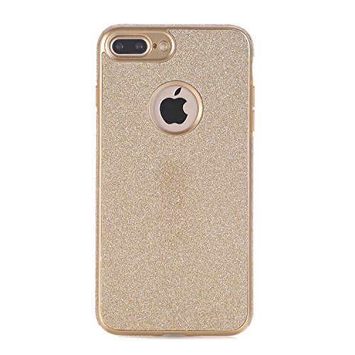 iPhone 7 Plus Hülle, WindTeco Weich TPU Silikon Glitzer Schutzhülle Bling Handyhülle Protective Case Cover für Apple iPhone 7 Plus (5,5 Zoll), Gold