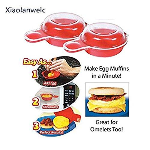 xiaolanwelc @ einfach eggwich Werkzeug Mikrowelle Eierkocher, Käse 1Minute Schnell Ei Hamburg Omelet Maker Küche Kochen Werkzeug (Mikrowelle Ei-ring)
