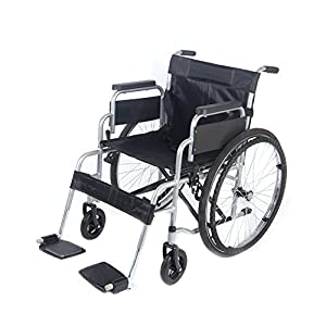 Lightweight Folding Attendant Self Propelled Wheelchair Transit Travel Transport