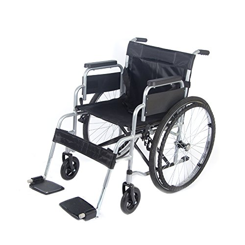 pandamoto-puncture-resistant-self-propel-folding-portable-propelled-wheelchair-silver
