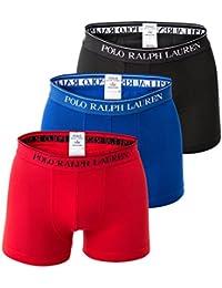 POLO RALPH LAUREN Hommes Short 3-Pack, Classique Tronc - Marine / Bleu / Rouge