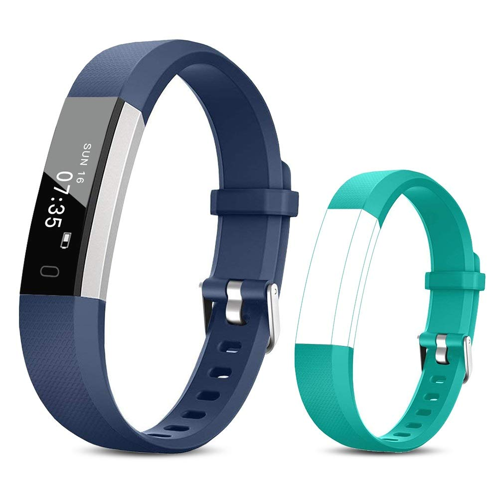 TOOBUR Reloj Inteligente para Mujer Hombre Niños, Pulsera Actividad con Cuenta Pasos y Calorias, Podómetro Smartwatch… 1