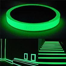 15mm x 5m Phosphor Klebeband Markierungsband Leuchtband nachtleuchtend Glow Klebebandabroller