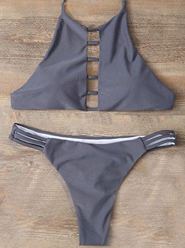 CU@EY Women's Stil Design Unique Bikini Badeanzug komfortable Stil neuartige Qualität gut für die Party Freizeit Urlaub Schwimmen Strand Ausübung oder andere Anlässe gray