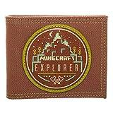Bioworld Merchandising - Portefeuille Officiel Minecraft Explorer, Carteras Unisex adulto, Marrón (Marron), 2x8x11 cm (W x H L)