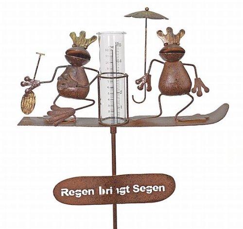 Regenmesser, Froschkönig, Gartenstecker, Höhe: ca. 140 cm