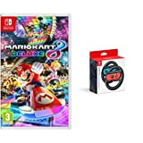 Mario Kart 8 Deluxe & Two Official Joy-Con Steering Wheels (Nintendo Switch)